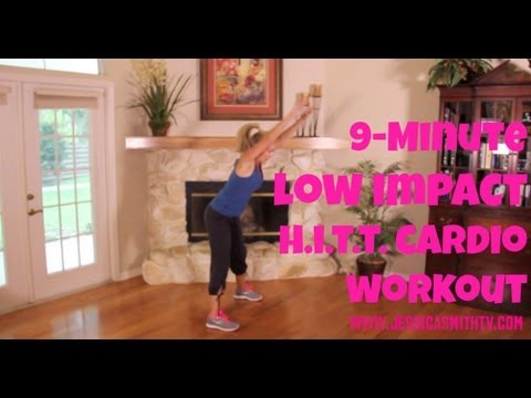 9-Minute, Low Impact H.I.I.T. Cardio Workout  - Jessica Smith TV