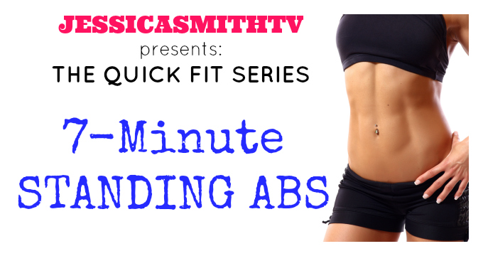 7 Minute Standing Abs Workout Jessica Smith Tv