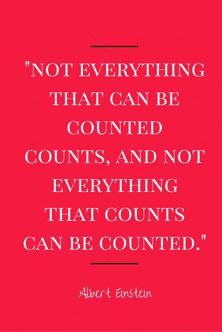 -not everything that can be counted