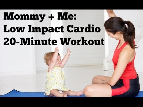 20-Minute Mommy and Me Low Impact Cardio | Postnatal ...