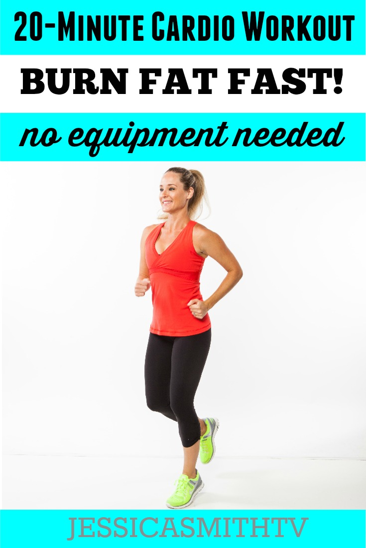 20 Minute Fat Burning Cardio Workout_No Equipment Needed