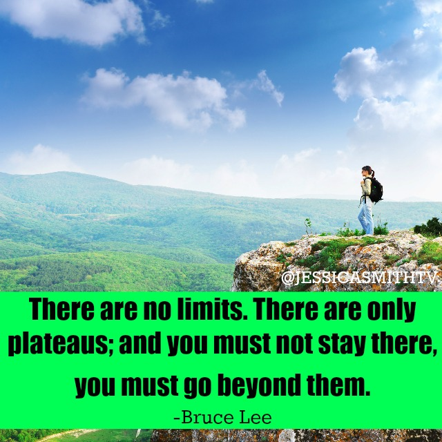 There are no limits Bruce Lee quote