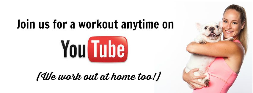 Workout anytime with us on YouTube